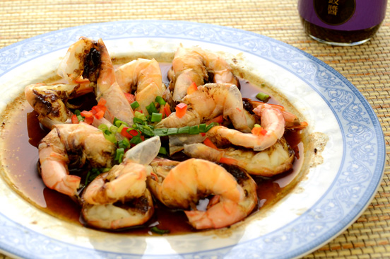 Prawns in Garlic Black Bean Sauce