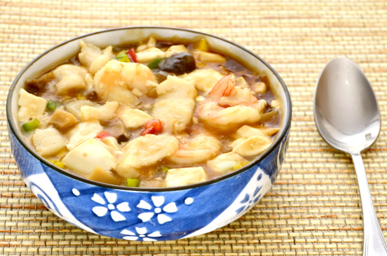 Braised Seafood and Bean Curd in Imperial Stir-Fry