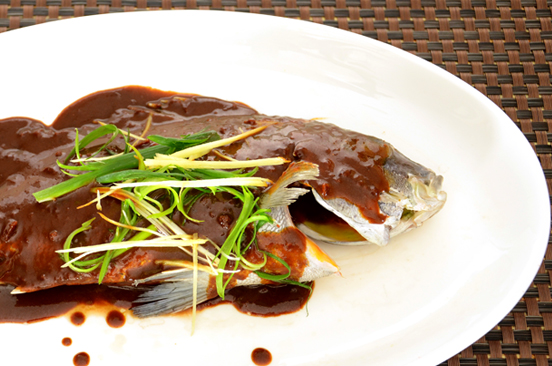 Steam Fish with Sauce