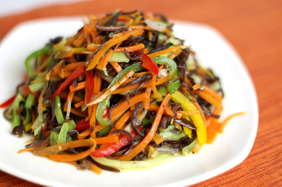 Fried vegetables with Pat Chun Babao Sauce