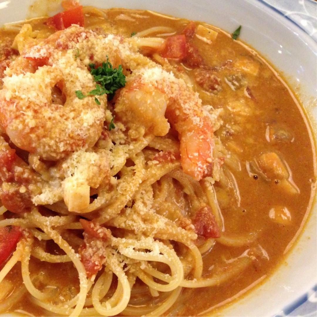 龙虾油海鲜特浓汤意粉
