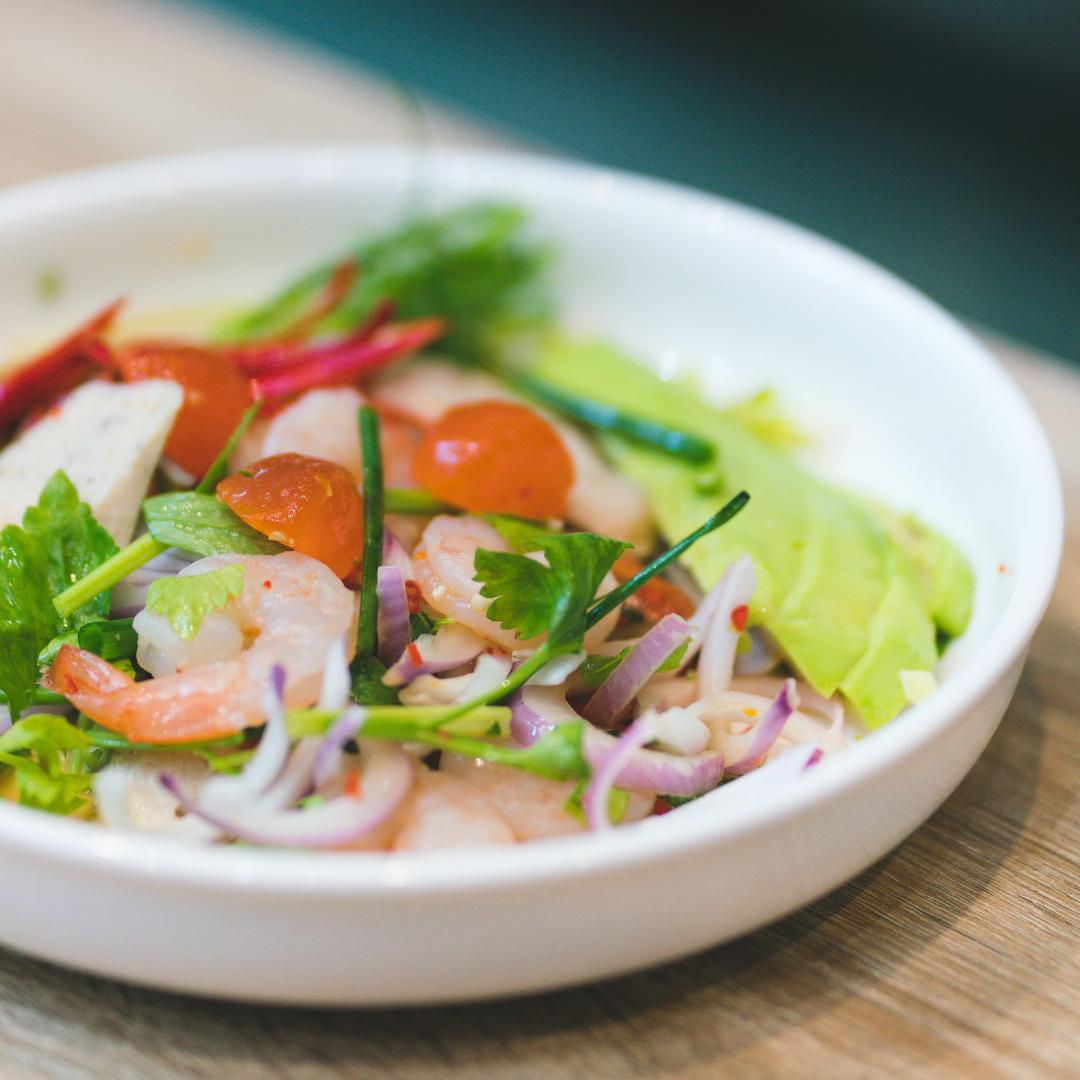 龍蝦油大蝦蔬菜沙律