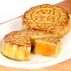 White Lotus Seed Paste Mooncake with 10 Yolks (1 pc)