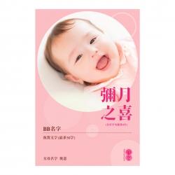 个人化婴儿心意卡10张 (粉红色) 4R