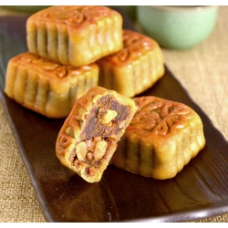 Mini Red Date Paste Mooncake with Walnut (1pcs)