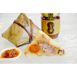 Rice Dumpling with XO Sauce and Seasoned Meat