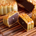 Red Bean Paste Mooncake with Olive Seed