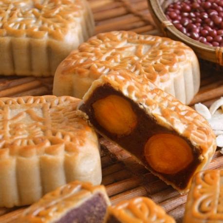 豆沙雙黃月餅