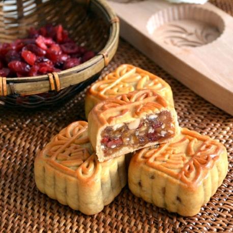 Mini Yuzu and Cranberry Mooncake (6pcs)
