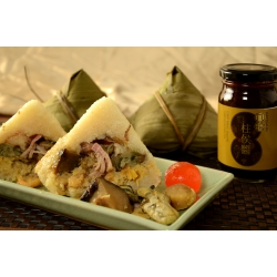 Rice Dumpling with Dried Oyster, Dried Mushroom and Seasoned Meat