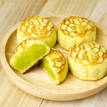 迷你斑蘭奶黃月餅(6個裝)